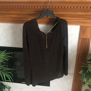 NWOT Michael Kors Cowl Back Sparkly Blouse